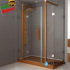 Still dikdörtgen duşakabin 2 sabit 1 çalışır 80-90