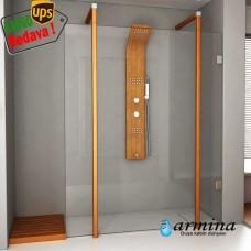 Still sabit camlı duşakabin 140-150